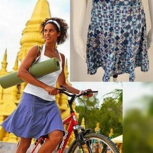 Athleta Rare Blue Geo Print Tennis Skirt Skort 0